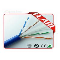 China Ethernet Patch Cable UL Listed Bulk 23AWG , Pure Copper Pull Box UTP Cat6 Network Cable on sale