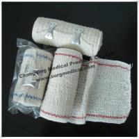 China Surgical Elastic Crepe Bandage Bleached / Natural With Line Comfortable To The Skin on sale