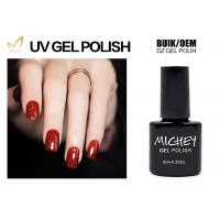 Professional Red Glitter Gel Nail Polish Salon Quality OEM / ODM Service Manufactures