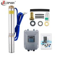 China 80 meters head solar powered submersible water pump for irrigation on sale