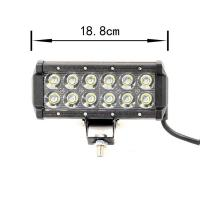 Quality dc 12 volt 36W Auto Led Light Bar flood beam with 50000 hours work life for sale