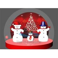 Popular Giant Christmas Bubble Tent Night Holiday Snowman Globe Blue / Green / Pink Manufactures
