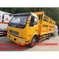 Factory sale high quality Cheapest price Dongfeng 4x2 6ton gas cylinder transport truck, gas canister carrying vehicle Manufactures