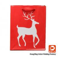 Quality Environmentally Friendly Paper Christmas Gift Bags With Custom Printed Logo for sale