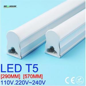 PVC Plastic LED Tube T5 Light 30CM 60CM 110V 220V~240V LED Fluorescent Tube LED T5 Tube Lamps 6W 10W Cold White Light Manufactures