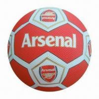 Branded Rubber Football with CE Mark Manufactures