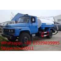 hot sale best price dongfeng140 long head sewage suction truck, dongfeng 4*2 5cbm vacuum sludge tank truck for sale Manufactures
