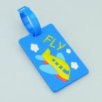 funny airplane hard PVC card luggage tag Manufactures