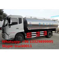 Hot sale 2017s 8cbm-10cbm dongfeng milk liquid food truck, factory sale best price 10m3 stainless steel milk tank truck Manufactures