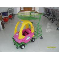 95L Children / Kids Shopping Carts With Rear Basket / 4 Swivel Flat Caster SGS CE Manufactures
