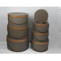 Solid Large Cardboard Round Gift Boxes With Lids High Class Fabric Rope Manufactures