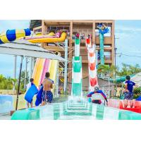 High Speed Water Slides Funny Swimming Pool Water Amusement For Holiday Resort Visitors Manufactures