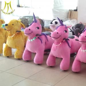 China Hansel  unicorn stuffed animal battery power wheels ride on animal horse ride on sale