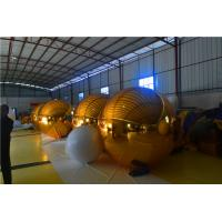PVC Inflatable Mirror Ball Various Color Inflatable Globe For Advertising / Party Manufactures