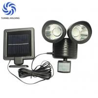 Dual Head lamp Solar Flood Lights Warm / White Color For Home Garden / Lawn Manufactures