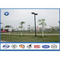 ASTM A123 Galvanized parking lot lighting poles Against earthquake of 8 grade Manufactures
