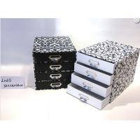 Four Layer Stationery Storage Drawer Gift Box Glossy Lamination With Metal Handles Manufactures