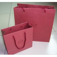 Quality Pantone Color Print 210gsm Pink Specialty Paper Gift Bag With PP Handle For for sale