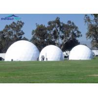 Transparent PVC Event Geodesic Dome Tent Steel Frame Colourful Cover Manufactures