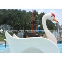 Customized Fiberglass Small Water Pool Slides Designed For Water Park Games Manufactures