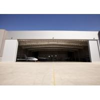 9 Points Prefab Steel Buildings / Aircraft Hangar Buildings With Parapet Wall Manufactures