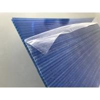 Blue Polycarbonate Roofing Sheets Lexan / Makrolon Raw Material 6mm Thickness Manufactures