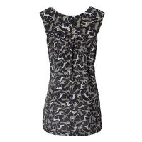 Quality Black Animal Printed Silk latest Dresses Sleeveless For Summer for sale