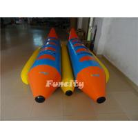 0.9mm Pvc Tarpaulin Inflatable Fly Fish , Double Tubes Inflatable Banana Boat Manufactures
