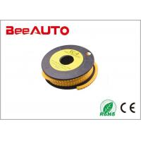 EC-1 Electric Insulated Crimp Terminals PVC Cable Sleeving Marker Yellow With Symbol Manufactures