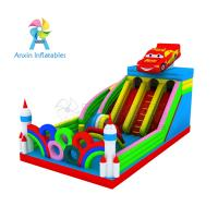 Kids mobile car design inflatable fun city amusement park