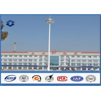 Self - Supporting Outdoor LED Display High Mast Light Pole For Square Lighting Manufactures