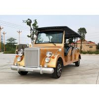 Battery Powered Vintage Touring Car 10 Seater Electric Sightseeing Car Manufactures