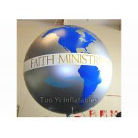 Custom Advertising Earth Globe Balloons With Digitally Printed 2 Years Warranty Manufactures