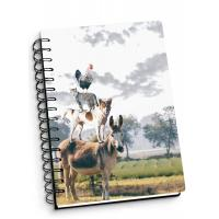 Depth Effect A4 A5 A6 3d Lenticular Notebook With Spiral Binding For Student Stationery Manufactures