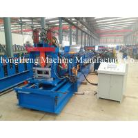 Hydraulic Steel Roll Forming Machine C Purlin GCr15 Roller Frequency Control Manufactures