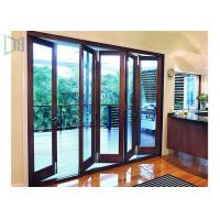 Fire Proof Aluminium Bifold Patio Doors , Residential Folding Doors With Louver Inside Manufactures