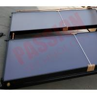Black Aluminum Alloy Copper Pipe Flat Plate Solar Collector , Solar Water Heater Collector Manufactures
