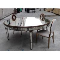 Large Size Mirrored Dining Table Lacquer Painting Finish Customized Color Manufactures