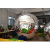 Silver Mirror Advertising Air Balloons fireproof For Party Manufactures