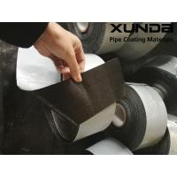 Geotextile backed Polypropylene Fiber Woven Tape , protective pipeline coating bituminous tape Manufactures