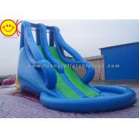 Blue Style Large Inflatable Water Slide With Pool For Water Park 10m*5m*8m Manufactures