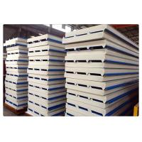 Fireproof Color Coated Steel PU Sandwich Panel / Insulation Wall Panels Manufactures