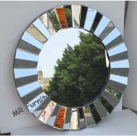 Quality Full Beveled Wall Mirror Decor, Framless 3D Decorative Round Wall Mirrors for sale