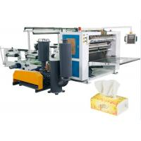 V - Fold 5 Line Facial Tissue Paper Folding Machine With Siemens PLC And HMI Manufactures