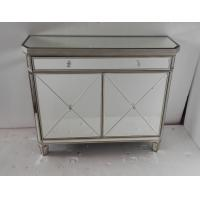 Bedroom Mirror Furniture Set Classic / Fashionable Design Mirrored Side Table Manufactures