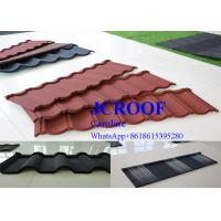 Durable  cooffe stone Corrugated Metal Roofing Sheets newzealand stone tile Manufactures