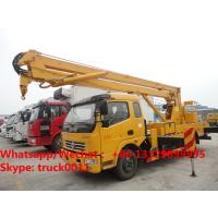 Quality Factory sale cheapest price Dongfeng LHD 16m aerial platform truck, Wholesale for sale