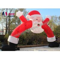 Merry Christmas Day Inflatable Santa Archway Decoration Blow Up Arch Welcome Business Manufactures