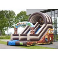 Full Print Attraction Playground Professional Commercial Inflatable Slide For Kids Playing