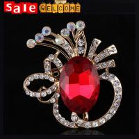 Huge Big Large Crystal Brooch Pin Glass Crystal Bridesmaid Flower Brooch Lapel Pin Jewelry Manufactures